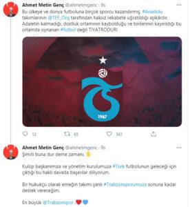 """Başkan Genç Yine sert çıktı! """"En büyük Trabzonspor"""""""